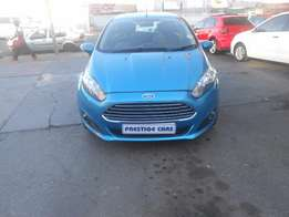ford fiesta 1.4 hb, eco boost automatic, 2014 blue colour