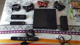 Xbox 360 Slim 250gb with Kinect and loads of extras