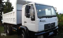 MAN M2000 tipper truck