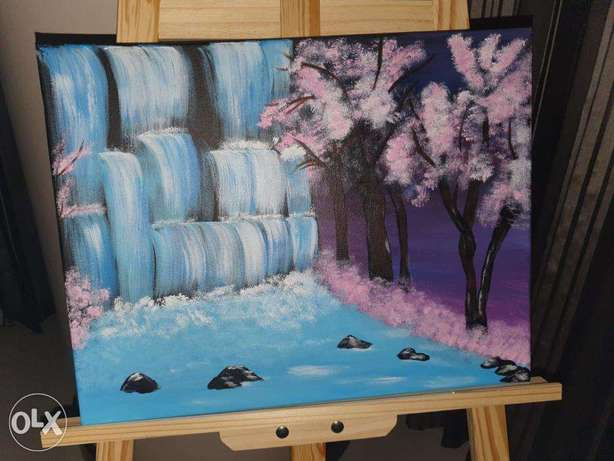 Waterfall Paintings for walls with delivery