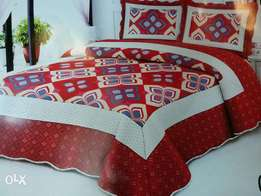 Cotton bed covers with bedsheet and 2pillow cases