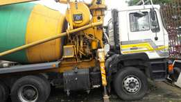 Cement mixer pump