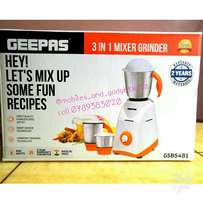 Geepas 3 in 1 stainless steel blender with 5 yrs warranty for motor