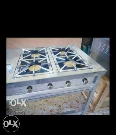 Stainlesss steel gas cooker four Barner commercial Kamukunji - image 2