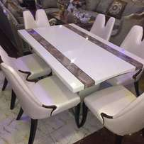 Marble dining set by 6chairs