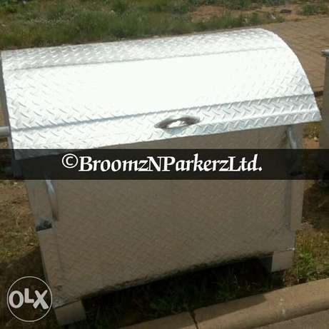 Galvanized 1200 liter AEPB specified waste bin . Free delivery Abuja - image 1