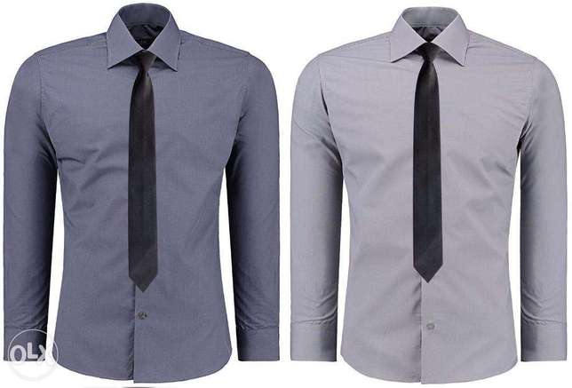 Blue and Navy Blue Official Shirts for Men 2 Pack Nairobi CBD - image 5