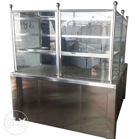 Juice Coounter ss with glass cover