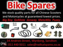 Spare Parts for Chinese Scooters, Motorcycles, Quads Motorbikes and AT