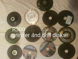 Small grinder disks and drill sanding holder