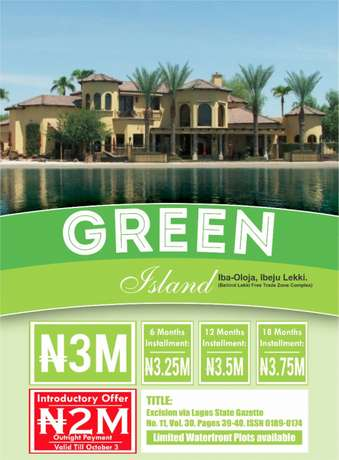 GREEN ISLAND Now selling with C of O Lekki - image 1