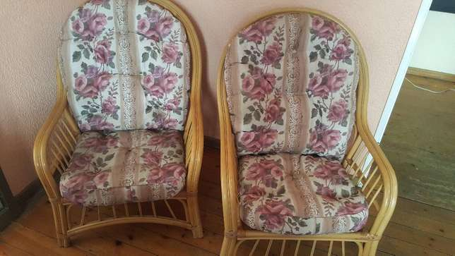 Pair of Cane Chairs With Cushions Kensington - image 2