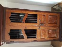 Beautiful indian large wooden display cabinet