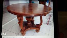 Dining room table - Hand crafted mahogany