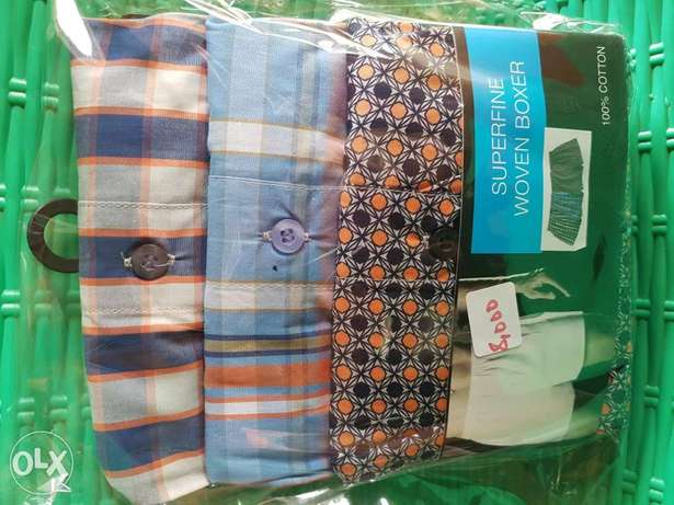 100% cotton superfine woven boxers 3 in a pack Ibadan South West - image 3