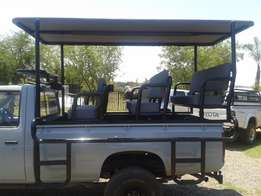Wildbesigteging rame / Game drive rigs