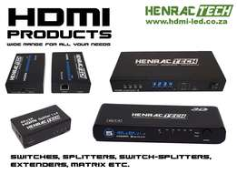 HDMI Products, Switch, Splitter, CAT Extender, Matrix, Cable