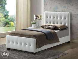 4ft By 6ft Buttoned Leather Upholstered Bed-frame