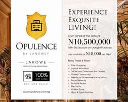 Own a plot of Land in Opulence Estate