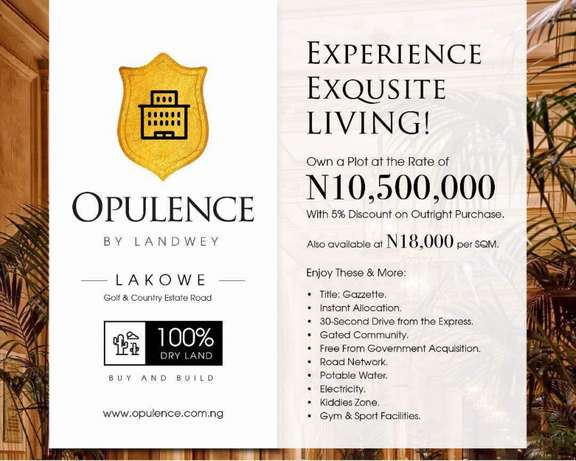Own a plot of Land in Opulence Estate Lagos - image 1