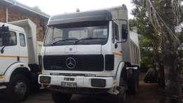 2 x 10 cube Mercedes tippers