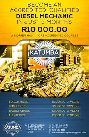 Diesel mechanic courses at Katumba training center Rustenburg - image 1