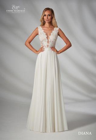 d6b223377e Suknia ślubna Emmi Mariage- Diana 36 38 Tymbark - image 1