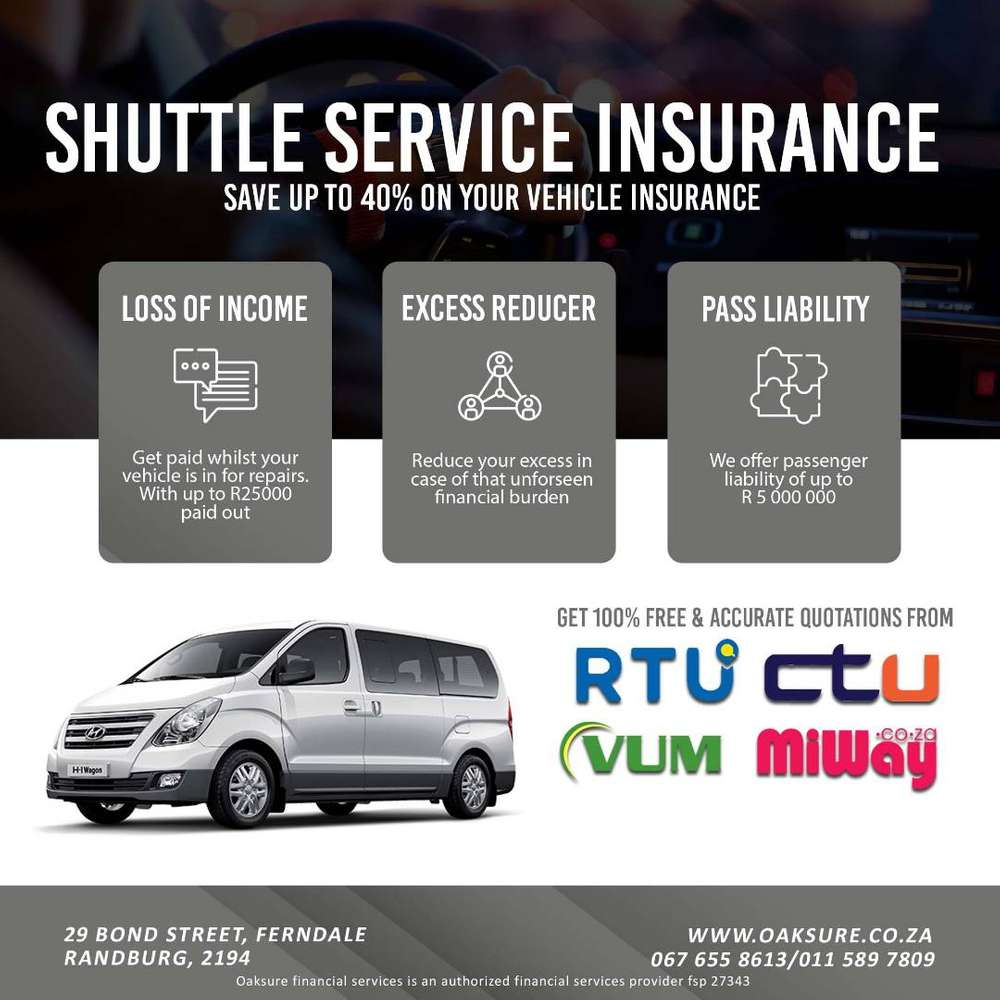 Discounted Shuttle Service Commercial Insurance