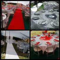 Stretch tents and events equipment, decor
