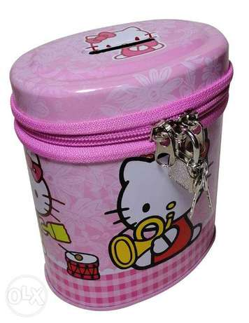 Brand New Cylinderical Money Box - Hello Kitty