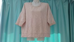 ace43a63562 Красивая свободная пудровая блуза блузка женская кофта 44 46