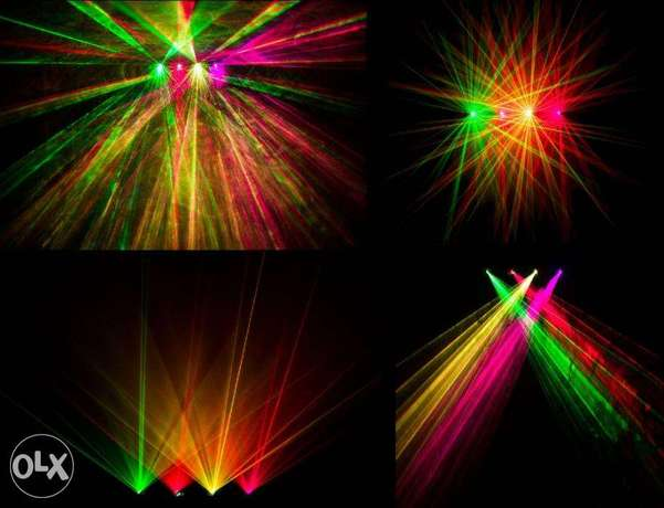 2 X Four Colors Professional Stage Laser
