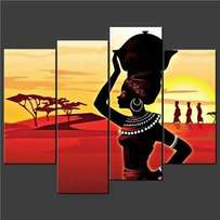 African themed art hand painted on canvas