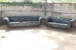 Beautiful Chesterfield design 3 and 2 seater sofa, slightly used
