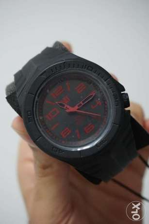 Caterpillar CAT Mens Watch Wave Black Dial with a Rubber Strap Gents