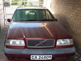 Volvo 850 automatic station wagon, auto sunroof, metallic red, 1996