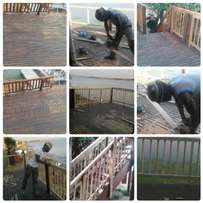 We build new and repair old Wooden decking around Gauteng