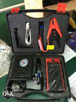 Car battery jump starter and tyre inflator