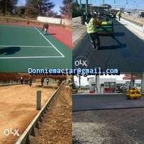 tennis courts and tar surface
