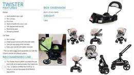 Chelino Twister Travel System and ISO Fix base