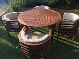 Beautiful Wooden Garden Furniture Suite