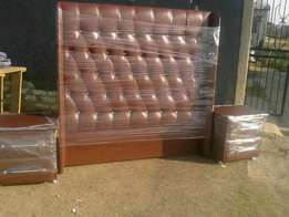 Beautiful double bed diamanté headboard and pedestal set
