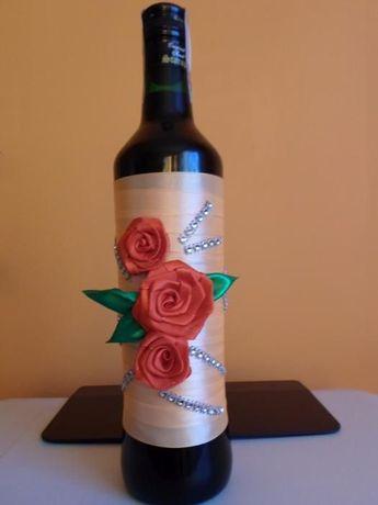 Wspaniały Ubranko na butelkę wino ślub dekoracja Izbice • OLX.pl AM24