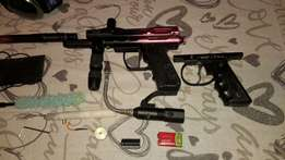Spyder paintball marker and gear