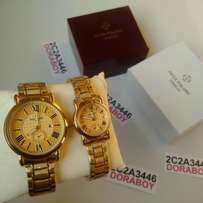 Patek Philippe Couples Gold His & Hers Wristwatch