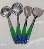 4 piece Stainless steel spatula