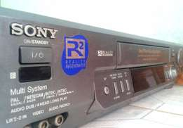 Sony vcr (video cassette recorder)