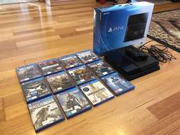 PS4 PlayStation 4 500GB With 12 Games in GOOD CONDITION