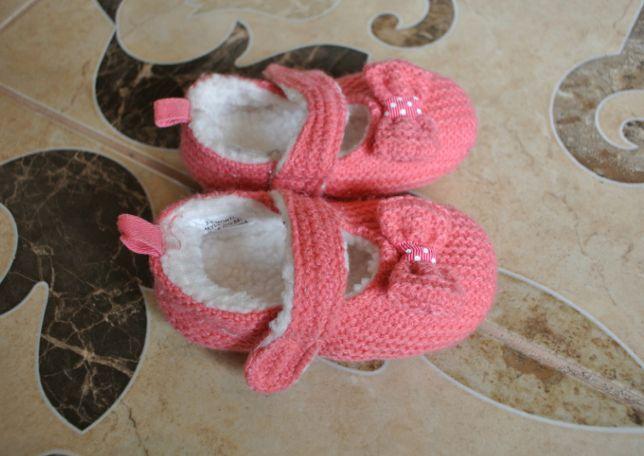 4398d52a4 Яркие пинетки на меху 10см Bluezoo тапочки туфельки первая обувь осень  Ковель - зображення 3