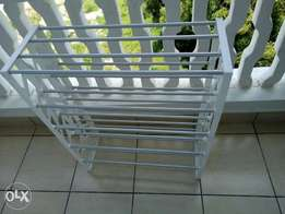 White and grey shoe Rack